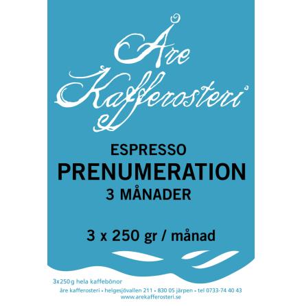 Prenumeration espresso.
